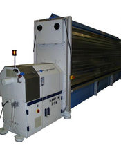 Tension testing machine / automatic / horizontal / mechanical