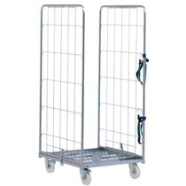 Transport cart / wire mesh platform / multipurpose / steel