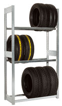 Single-sided storage shelving / for tires / galvanized