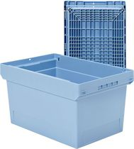 Plastic crate / storage / for heavy loads / stacking