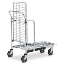 Transport cart / steel / shelf / wire mesh platform