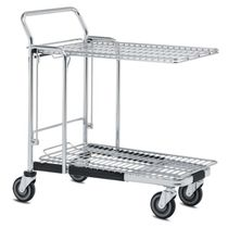 Transport cart / for containers / wire mesh