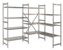 Light-duty shelving / adjustable / stainless steel