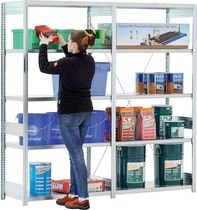 Double-sided shelving / for heavy loads / light-duty / adjustable