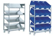 Single-sided shelving / bin / galvanized