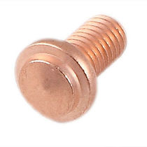 Drawn arc welding stud / threaded / zinc-coated steel / copper-coated steel