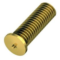 Threaded stud / capacitor discharge welding / brass