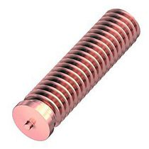 Threaded stud / capacitor discharge welding / copper-coated steel