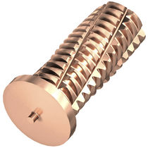 Capacitor discharge welding stud / threaded / copper-coated steel