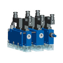 Lubricated vacuum system / industrial / compact / modular