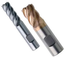 Roughing milling cutter / for steel / for carbon steel / high helix