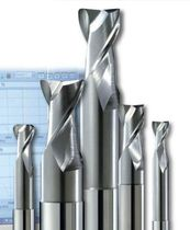 HSC end mill / 2-flute / high-performance