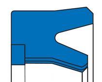 Lipped seal / U-shaped / rod / single-acting