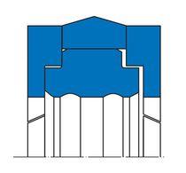 O-ring seal / U-shaped / rubber / piston