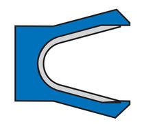 O-ring seal / U-shaped / PTFE / single-acting