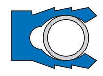 Lipped seal / U-shaped / PTFE