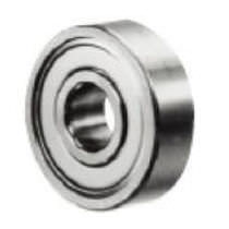 Ball bearing / single-row / stainless steel / steel