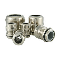 Nickel-plated brass cable gland / IP68 / insulated / threaded