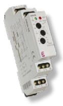 Voltage monitoring relay / time delay / single-phase / DIN rail
