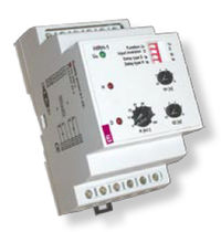 Level control relay / DIN rail / time delay
