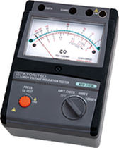 Insulation tester / high-voltage / analog / rugged