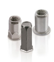 Threaded insert / stainless steel / hexagonal / custom