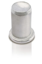 Threaded insert / press-in / zinc-plated steel / aluminum