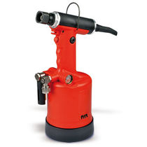Hydro-pneumatic riveter / oleo-pneumatic / for structural rivets and lock bolts / floor-standing