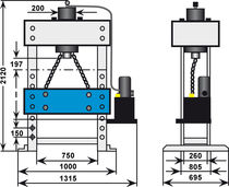 Hydraulic press / assembly