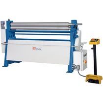 Plate bending machine with 3 drive rollers