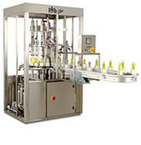 Cosmetic product filling and capping machine