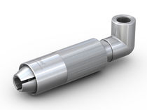 Threaded fitting / elbow / pneumatic / stainless steel