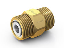 Ball check valve / threaded / for gas / brass