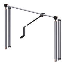 Table-top lifting system / hand crank
