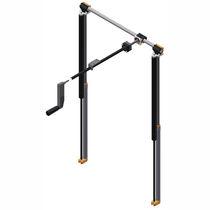 Stepless height adjustment lifting system / hand crank