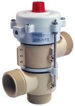 Hot water valve / stainless steel / in plastic / pneumatically-operated