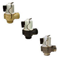 Hot water valve / flange / threaded / stainless steel