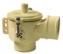 Drain valve / stainless steel / in plastic / for vacuum