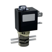 Direct-operated solenoid valve / 3/2-way / water / anodized aluminum