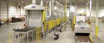 Heat treatment furnace / belt conveyor / hot air impingement / air circulating