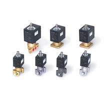 Spring solenoid valve / direct-acting / 3/2-way / brass