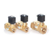 Pilot-operated solenoid valve / 2/2-way / brass / normally closed
