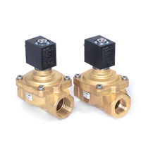 Diaphragm solenoid valve / pilot-operated / threaded / brass