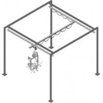 Free-standing bridge crane