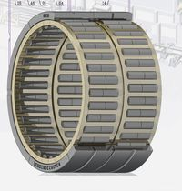 Tapered roller bearing / multi-row / steel