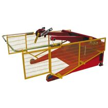Cable drum unwinder / for heavy loads / with movable arms