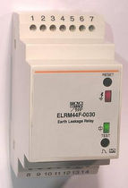 Earth-leakage control relay / SPDT / three-phase / DIN rail