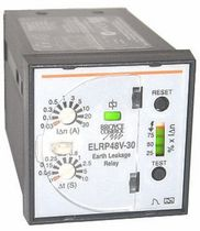 Earth-leakage control relay / SPDT / panel-mount / DC