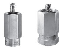 Poppet excess-flow valve / industrial / stainless steel