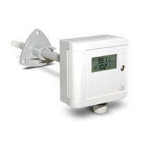 Relative humidity and temperature sensor / duct-mount / air / for indoor use